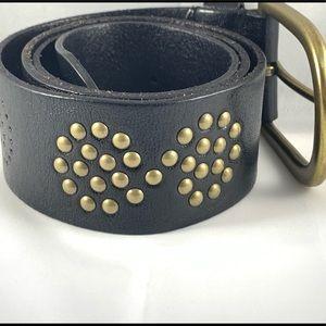 Linea Pelle Studded Leather Belt